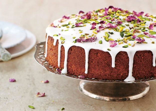 Yasmin Khan shares her recipe for Persian Love Cake from the stunning new cookbook The Saffron Tales. Rich in rose petals and cardamom...