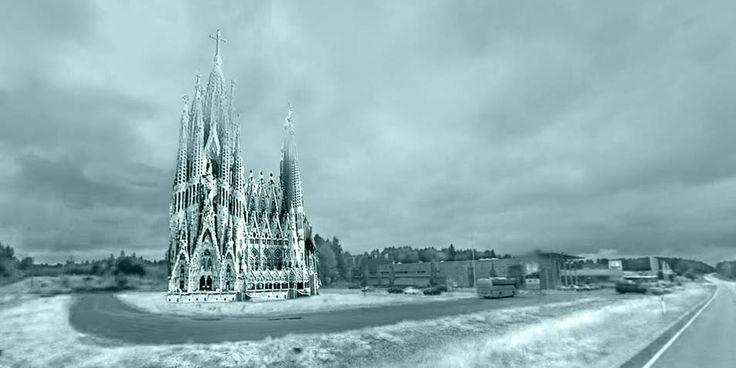 De beroemde kathedraal Sagrada Familia staat binnenkort ook in Finland. Studenten van de Technische Universiteit Eindhoven bouwen het beroemdste gebouw van Barcelona na, alleen dan wel van ijs en natuurlijk een stukje kleiner.