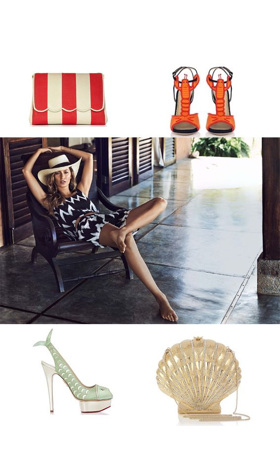 """""""Give me the beach please"""" on Sandra Style Charlotte Olympia and H&M  http://sandrafashiondiary.es"""