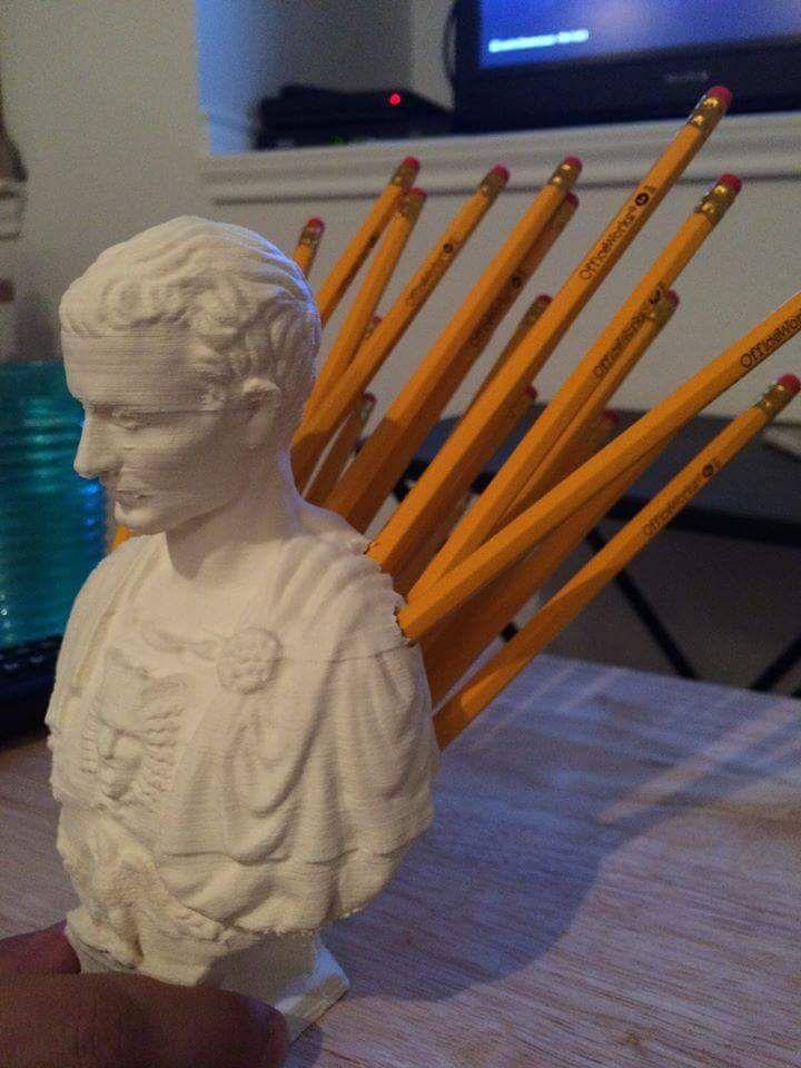 Perfect Julius Caesar pencil holder