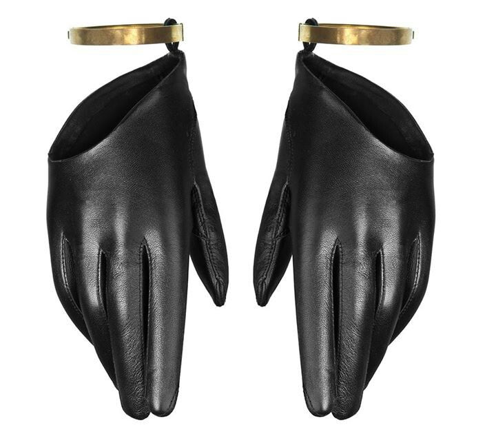 Black leather gloves | Architect's Fashion