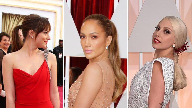 Unique ponytails speak volumes on the 2015 Oscars red carpet