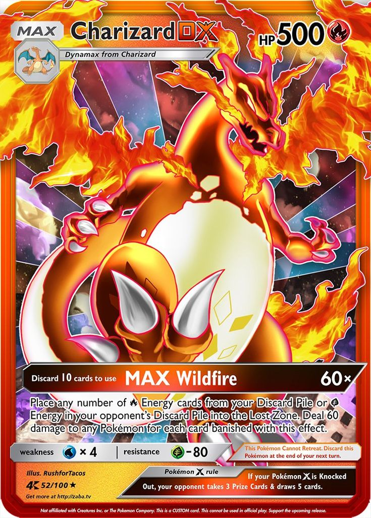 Charizard dx extended art custom pokemon card charizard