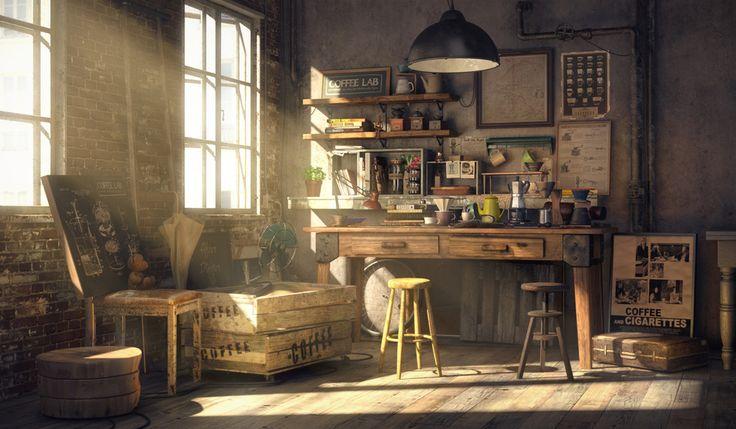 Coffee Lab by Sungjoon Bae | Realistic | 3D | CGSociety http://maxzia.cgsociety.org/art/maya-mari-vray-coffee-lab-realistic-3d-1261262