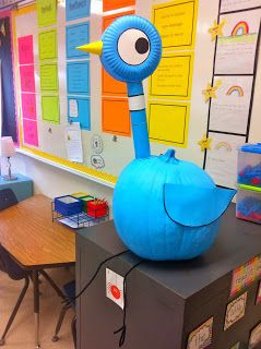 Mo Willems' Pigeon Pumpkin. What a hoot! Save for next year!