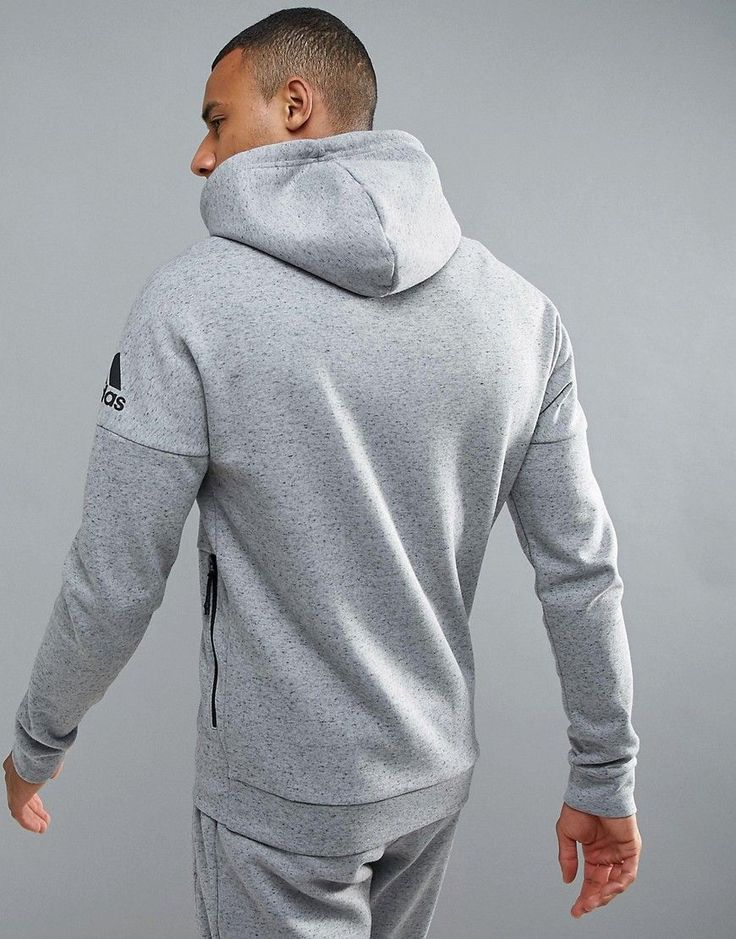 adidas Athletics Stadium Full Zip Hoodie In Gray BQ1648 - Gray