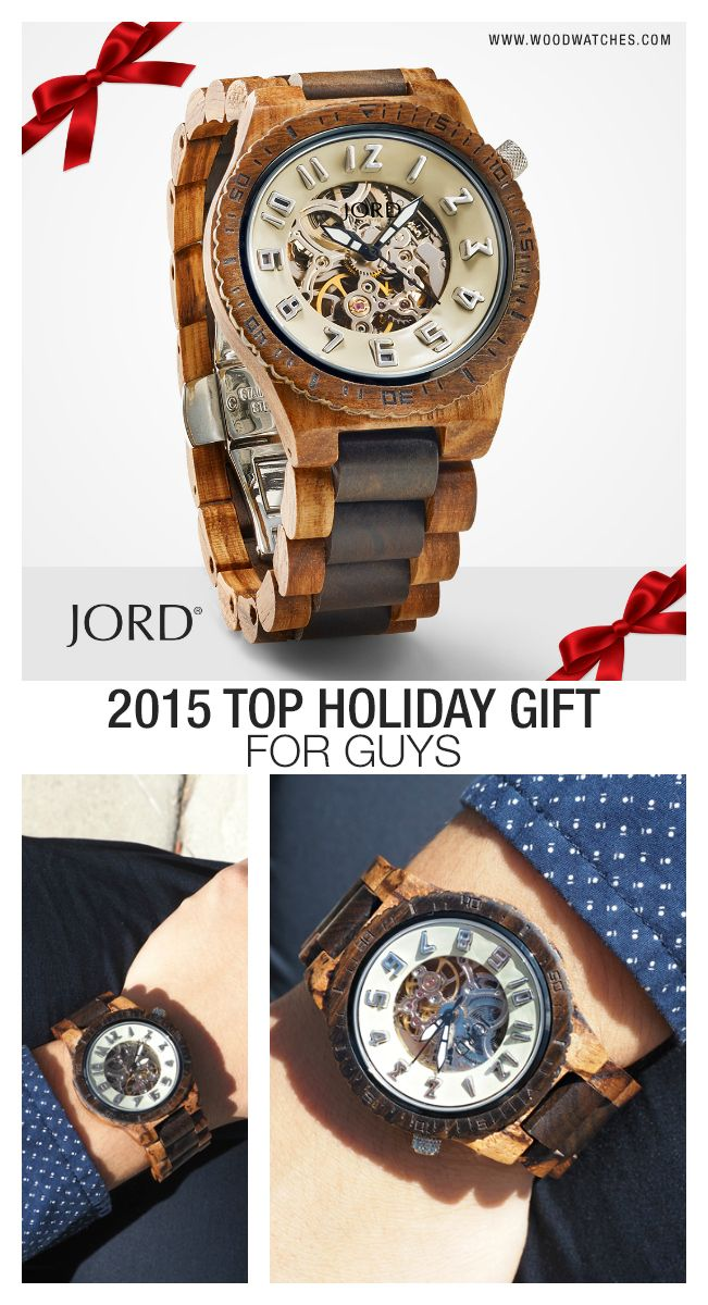 Give the gift on everyone's list this year! JORD's line of hand-crafted, high design, wood timepieces are unique, unexpected, and will be unforgettable on Christmas morning. Gorgeously grained wood cases and bands are fitted with premium movements to create a timepiece that will be treasured for years to come. Find your perfect present today at www.woodwatches.com Extended return period for holiday gifts. One year Warranty. Free shipping world-wide through the end of 2015.