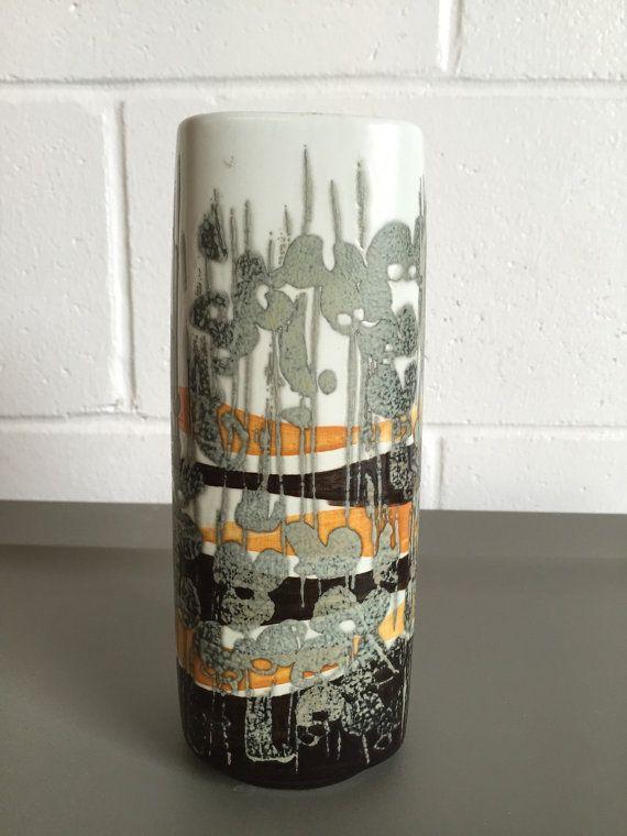 3763   Mid Century Danish Modern Royal Copenhagen Ivan Weiss Fajance Medium Vase
