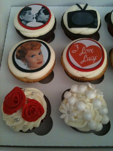 I love Lucy cupcakes, I want these for my bday next year!!!!  Katie Falaschi these would be so cool for Lucy's next b day!!