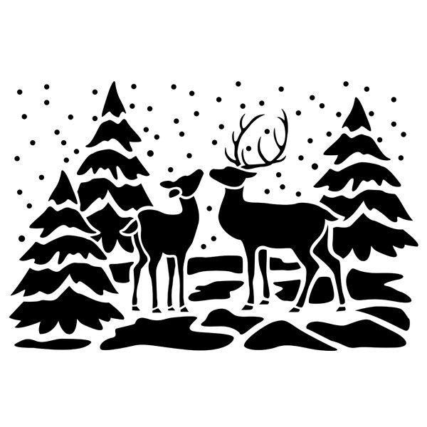Schablone Weihnachten Schneespray