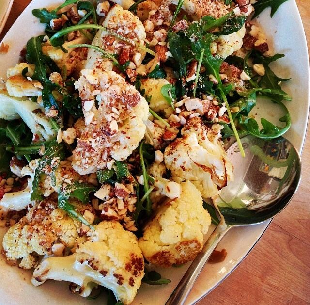 #roastedcauliflower #rocket #almonds