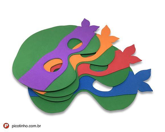 Máscaras de EVA - Tartarugas Ninja