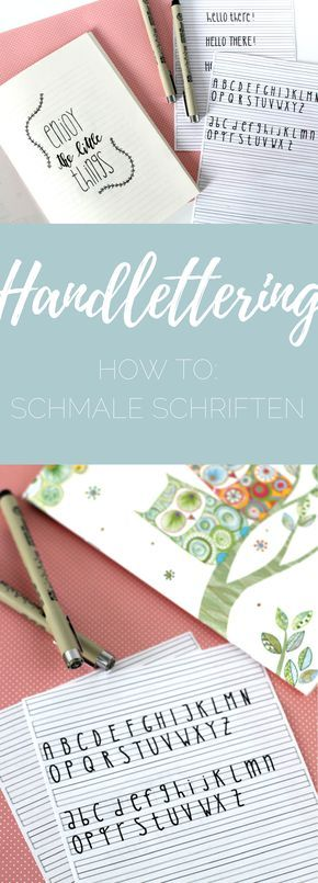 {handlettering} Feines Lettering – so funktionieren schmale Schriften!