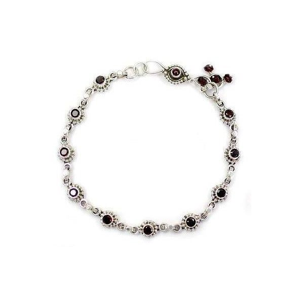 NOVICA Indian Ankle Jewelry with Garnet and Sterling Silver ($91) ❤ liked on Polyvore featuring jewelry, anklets, clothing & accessories, garnet, link, hand crafted jewelry, sterling silver jewelry, novica, indian anklet jewelry and handcrafted jewelry