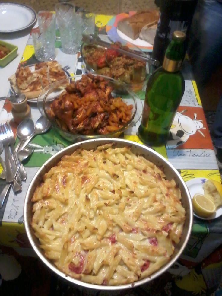 Cuisine haitienne ma'' gratinée'' de macaroni