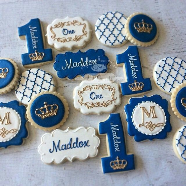 Little prince first birthday cookies