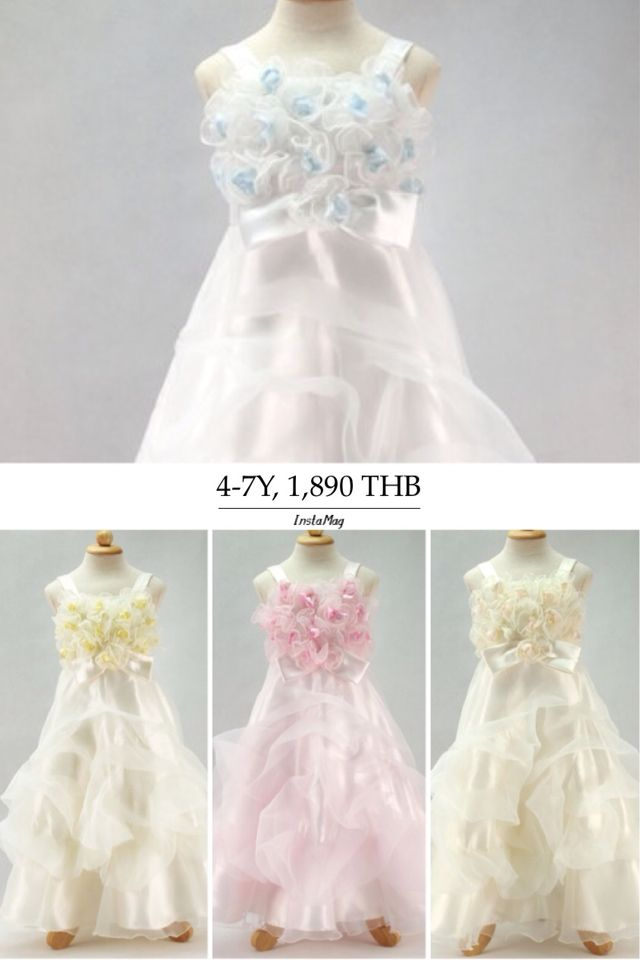 GB-25-1 Size : 4-7 Y Color : Blue, Pink, Peach, Ivory Retail : 1,890 THB Made in Thaliand Ph : + 668 4433 1712