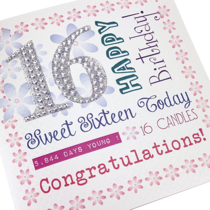 17 Best images about 16th Birthday Cards – Sweet 16 Birthday Cards