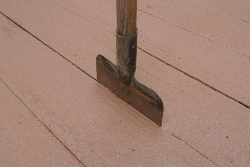 For clean lines between boards on the deck.