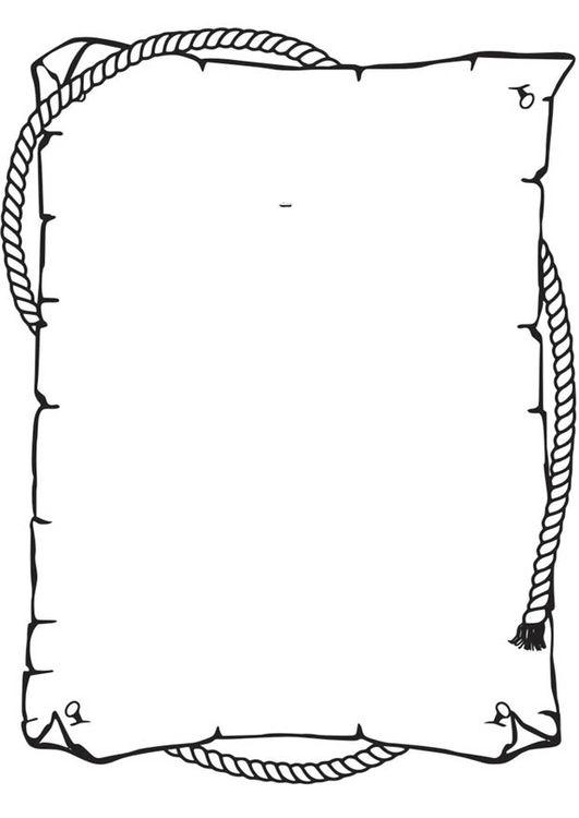 Resultado de imagen para dibujo de un pergamino para colorear