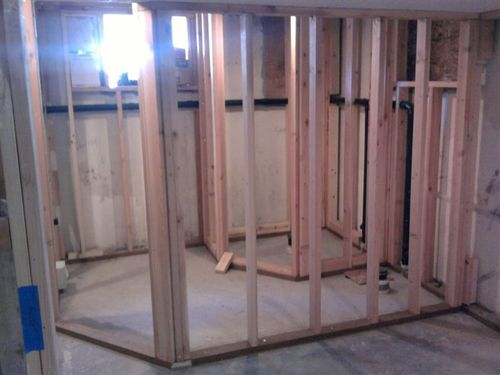 Bathroom Framing Complete Angle Wall Kb Basement From Google Image Bathroom Ideas