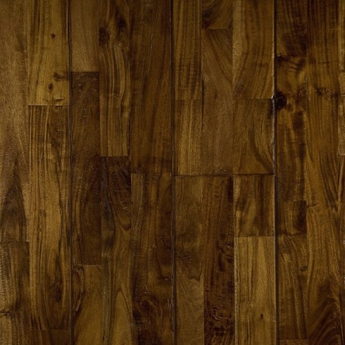 Prairie Acacia, from our Reclamation Plank Collection by Heritage Woodcraft features premium grade wide-plank solid hardwood flooring in a handscraped Acacia.