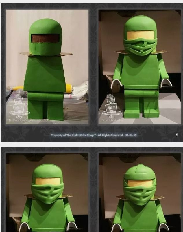 The Making of a 3D Standing Lego Ninjago Cake - CakesDecor