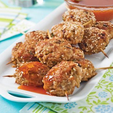 Croquettes de porc et sésame, sauce à l'orange - Recettes - Cuisine et nutrition - Pratico Pratique