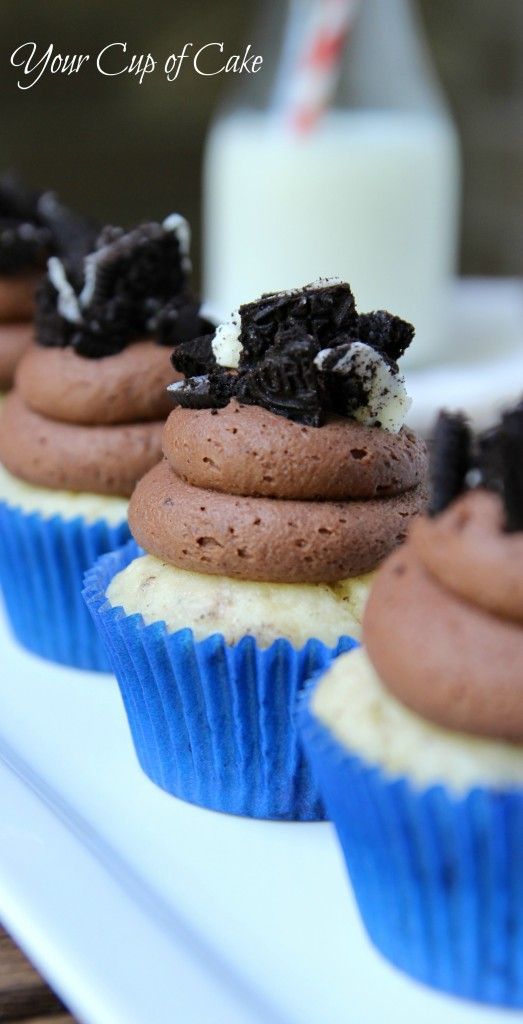 Oreo Brownie Cupcakes @kristin.... I'm in heaven.... We should do a slumber party and nails and stuff