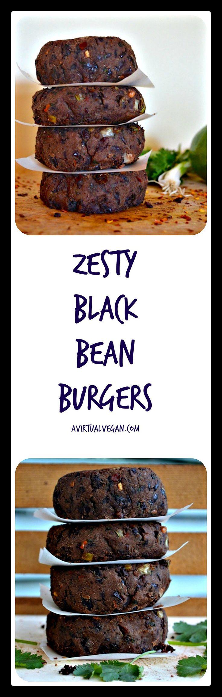 zesty black bean burgers