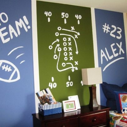 243 best images about sports themed rooms on pinterest for Football themed bedroom ideas