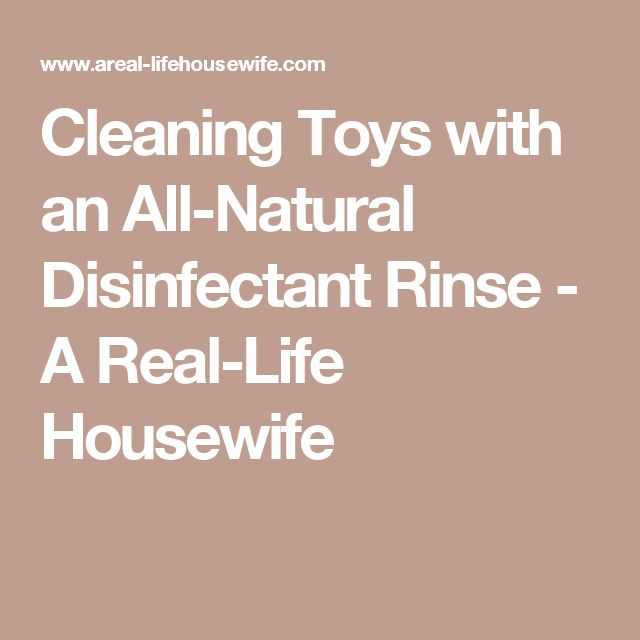 Cleaning Toys with an All-Natural Disinfectant Rinse - A Real-Life Housewife