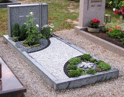 Bildergebnis Für Grabbepflanzung Mit Kies Verschiedene Farben