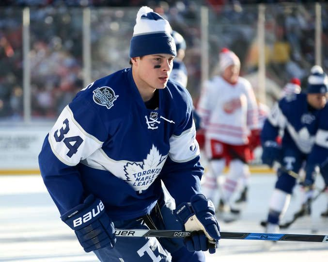 Maple Leafs vs. Red Wings - 01/01/2017 - Toronto Maple Leafs - Photos Auston Matthews #34