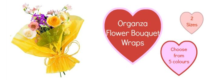 Beautiful Organza Flower Bouquets. Great for brightening up any bunch!