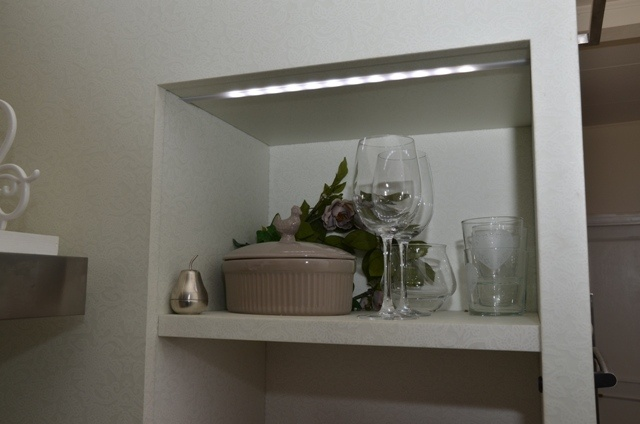 LED lighting for niche of a kitchen lining.