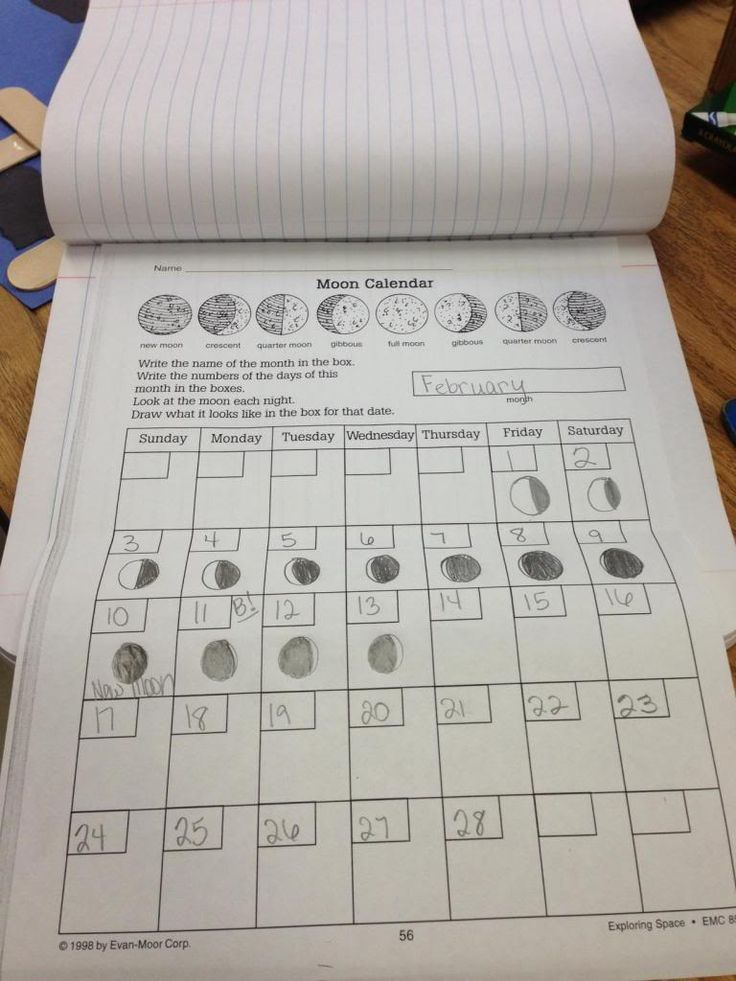 Jump Into Second Grade: Phases of the Moon