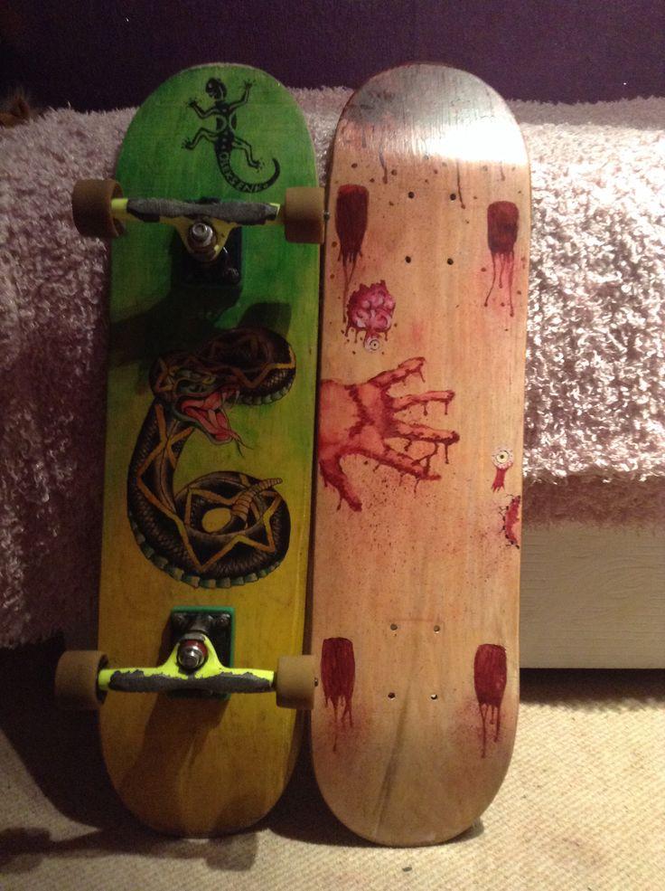 My designed Skateboards