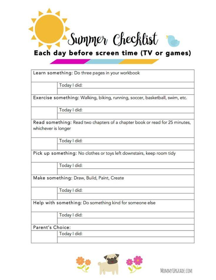 Best 25+ Summer checklist ideas on Pinterest Vacation checklist - creating checklist