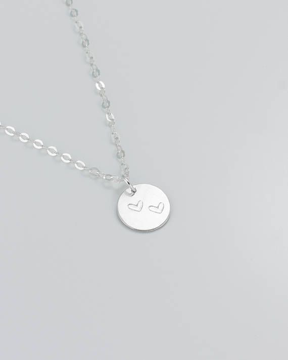 Personalized Sterling Silver Necklace • Initial Necklace Silver for Mom • Silver Monogram Necklace • Bridesmaid Initial Necklace | 0278-2NM