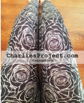 Midnight Rose Capri Leggings - CP Design