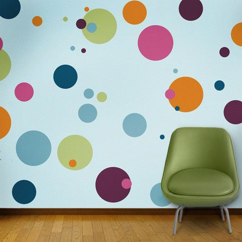 12 individual polka dot stencils - create a polka dot room in minutes for your baby nursery or kids room - no artistic skill required - self-adhesive feature makes stenciling a cinch - fun and easy to