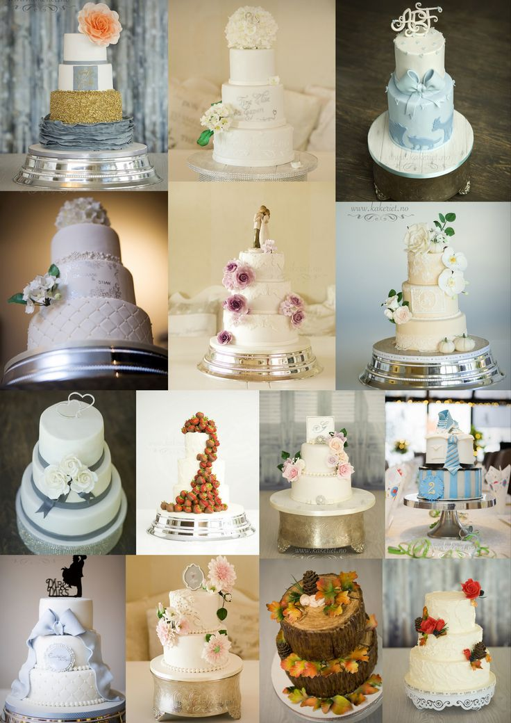 Some 2016 favourites :) Weddingcakes and christening cakes,and a birthday cake as well:) www.kakeriet.no in Norway