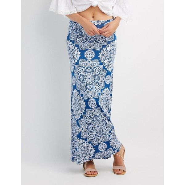 Charlotte Russe Floral Foldover Maxi Skirt ($12) ❤ liked on Polyvore featuring skirts, multi, fold over maxi skirt, high waisted floral maxi skirt, charlotte russe maxi skirts, layered maxi skirt and floor length skirt