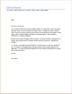 Student reference letter DOWNLOAD at http://www.templateinn.com/18-academic-letters-for-all-educationists/