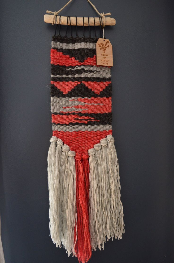 Handwoven wall hanging from House of Woolly Thyme $120.00