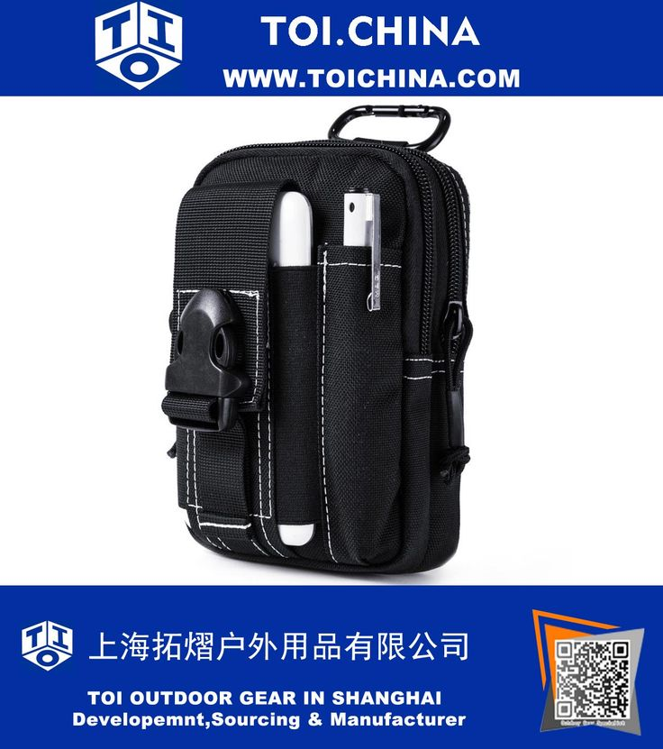 Tactical Molle Pouch EDC Utility Gadget Belt Waist Bag with Cell Phone Holster Holder, TY-EM068