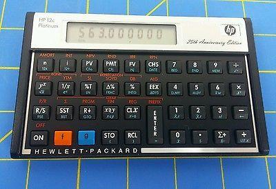 Hewlett Packard HP-12C Platinum Calculator 25th Anniversary Edition  ****