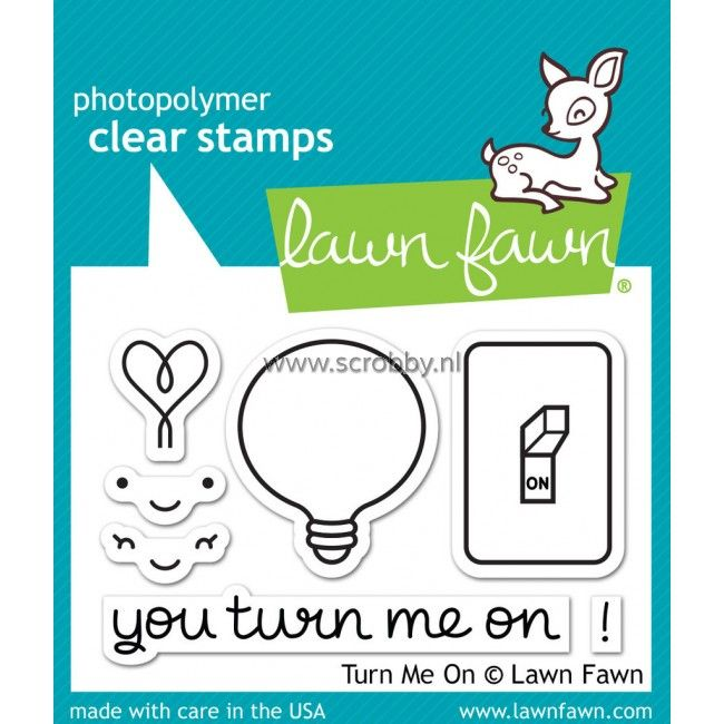 Lawn Fawn Turn Me On Stamps
