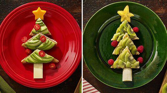Christmas Tree Toast & Waffles